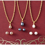 Freshwater Pearl Earring and Pendant Trio