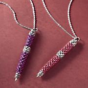glitter pen pendant