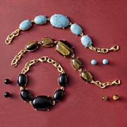 gemstone bracelet and earring set