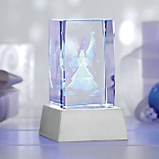 3d lighted crystal angel