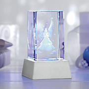 3d lighted crystal angel