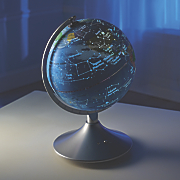 2-in-1 Globe with Constellation Map
