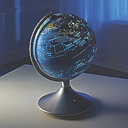 2 in 1 globe with constellations