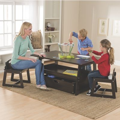 height adjustable 2-in-1 table and chairs collection from one step