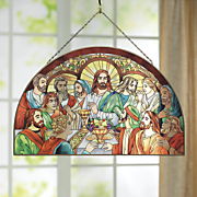 last supper art glass