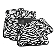 4 pc animal print car mats
