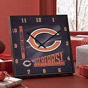 NFL Go Team Square Clock
