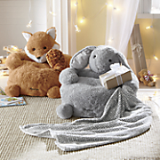 Personalized Plush Animal Chair with Blanket