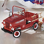 personalized pedal fire truck