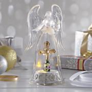 acrylic lit angel with cross