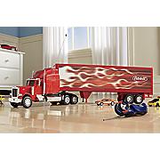 rc peterbilt semi red trailer