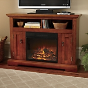 tv center fireplace