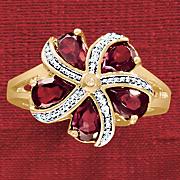garnet pinwheel ring