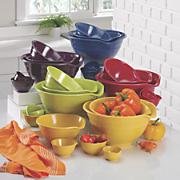 7 pc melamine bowl set
