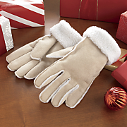 womens faux suede gloves