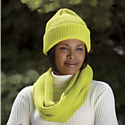 knit infinity scarf and beanie