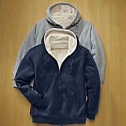 fleece lined navy hoodie