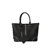 whipstitch accented tote