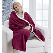 microplush heated sherpa throw