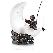 hand blown cherub s moon accent lamp
