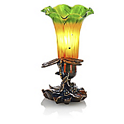 hand blown accent lily lamp