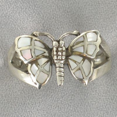 Lapis & Sterling Silver Butterfly Ring