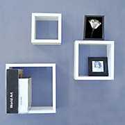 Set of 3 Mounting Wall Cubes