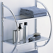 2 Tier Mounting Shelf with Towel Bars