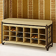 bench with shoe cubbies