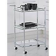 3 tier rectangular serving cart