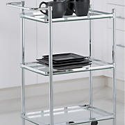 3 tier rectangular serving cart