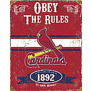 mlb vintage metal sign