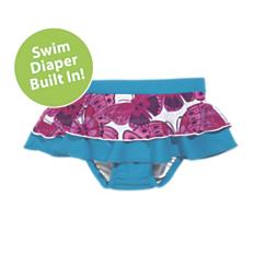 sun smarties butterfly swim diaper skirt