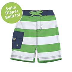 sun smarties nautical swim trunks with diaper