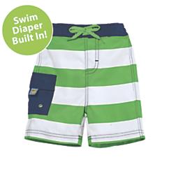 sun smarties nautical swim trunks with diaper