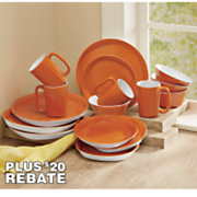 rachael ray 16 pc round square dinnerware set