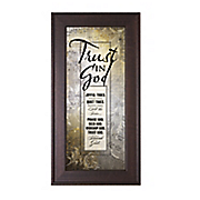 trust in the god framed wall art
