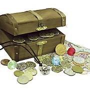 kid s treasure chest with replica pirate s treasure