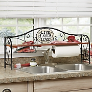 Live, Laugh, Love Over-The-Sink Shelf