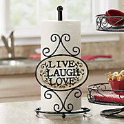 live laugh love paper towel holder