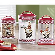 3 piece bon appetit chef canister set