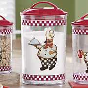 3-Piece Bon Appetit Chef Canister Set