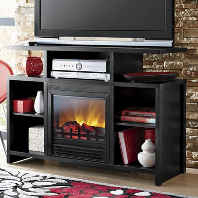 electric fireplace media center