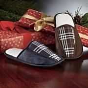 Men's Plaid Scuff Slippers