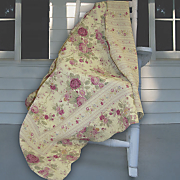 antique rose throw