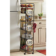 live laugh love slim storage cart