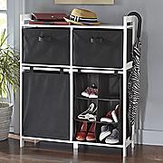 quadruple storage shelf