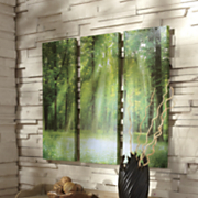 3 panel forest wall art