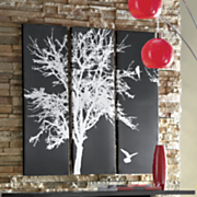 3 piece tree wall art
