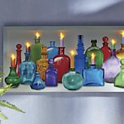 lighted jars wall art